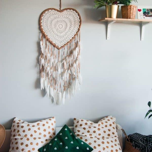 łapacz snów w kształcie serca