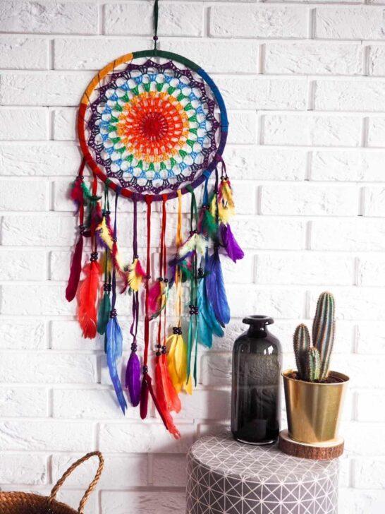 kolorowy łapacz snów