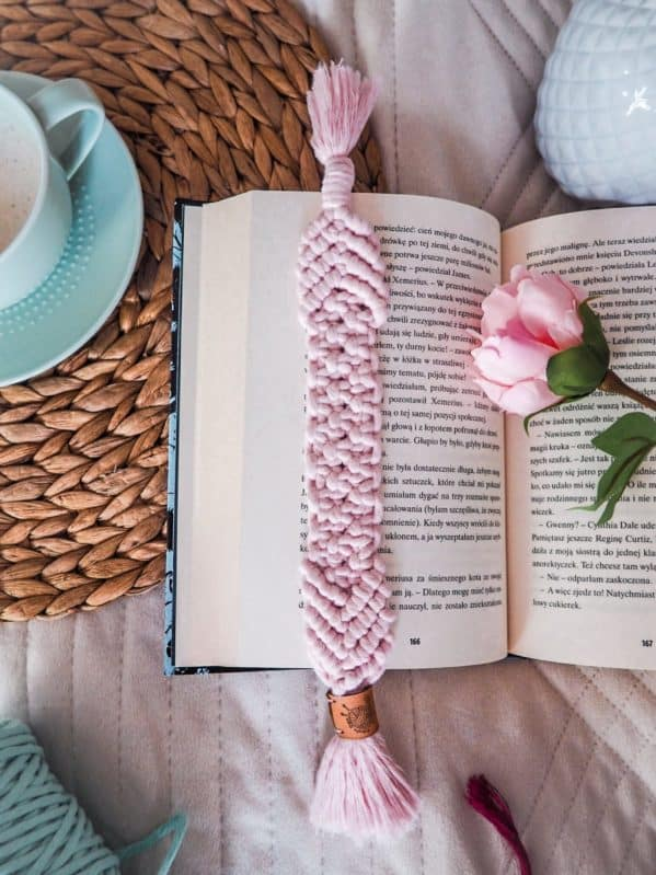 zakładka do książki różowa